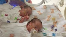 Mum of twins born with coronavirus has spoken of their 'miracle' recovery