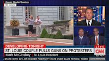 St. Louis man seen pointing gun at protesters butts heads with Chris Cuomo