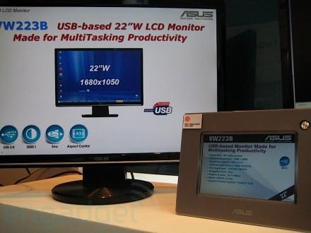 ASUS does DisplayLink with VW223B 22-inch LCD