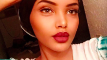 Watch this face: Halima Aden just walked for Kanye West's Yeezy season 5 in a fur coat and hijab