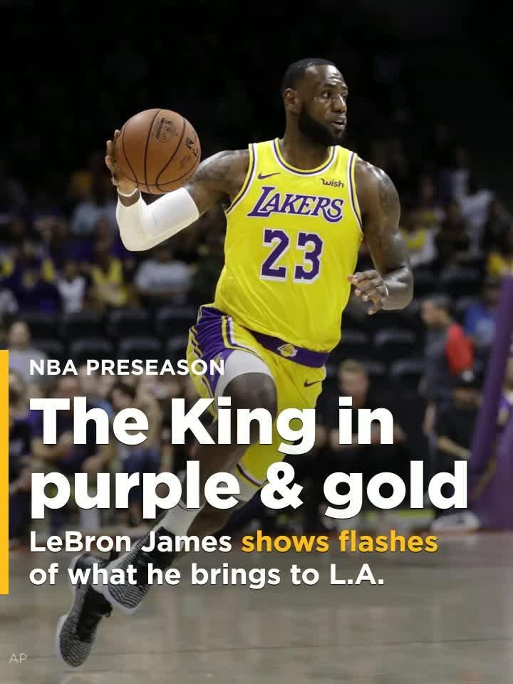0cbe5e668 LeBron James makes his Lakers debut