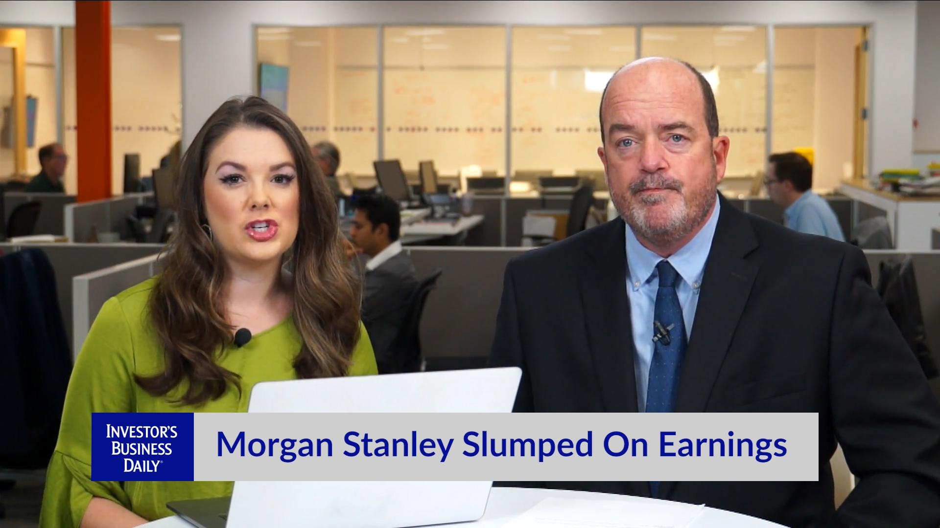Morgan Stanley Slumped On Earnings Video