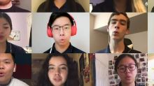 High school choir performs heartwarming concert from their bedrooms while practicing social distancing during the coronavirus pandemic
