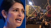 'Attack on democracy': Priti Patel and Labour condemns Extinction Rebellion newspaper blockade — as Dawn Butler deletes message supporting the group