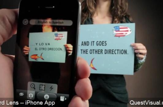 Word Lens augmented reality app instantly translates whatever you point it at