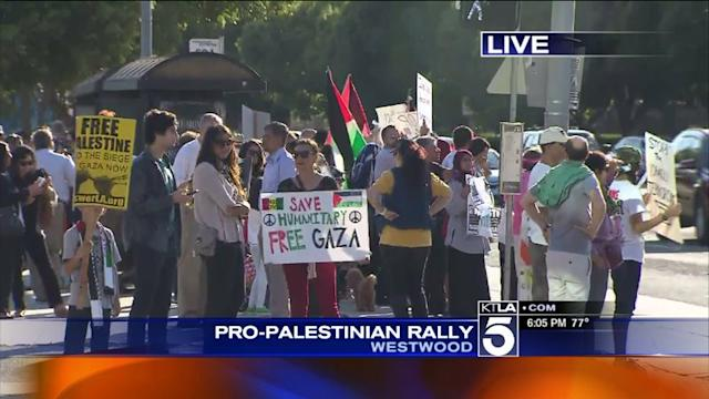 Pro-Palestinian Rally Held in Westwood