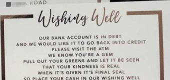 Couple's 'greedy' wedding request slammed