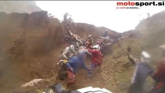 Riders take a tumble at start of 'toughest' motorcross race