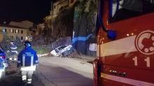 Crolla muro di contenimento: evacuate cinque famiglie