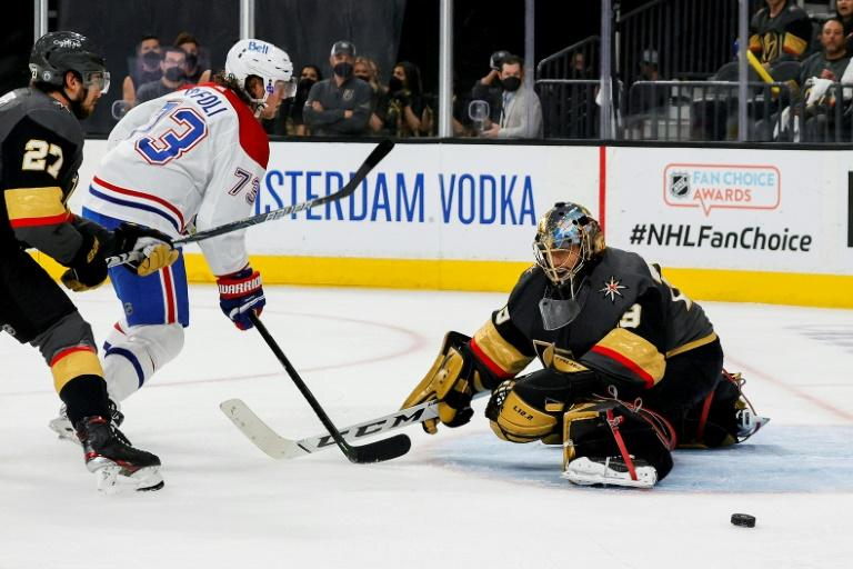 Golden Knights cruise past Canadiens in game one of NHL semi-finals