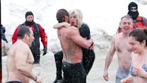 Lady Gaga Takes the Polar Plunge in Chicago