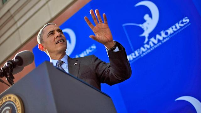 President Obama discusses nation's economy at DreamWorks