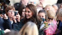 Kate Middleton steps out in green again with Dolce and Gabbana coat