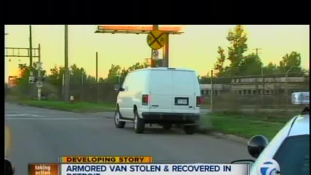 Armored vehicle stolen