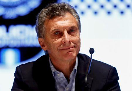 Mauricio Macri, Buenos Aires' City Mayor and presidential candidate for the Cambiemos (Let's Change) front, attends a ceremony in Buenos Aires