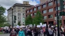 Protesters in Spokane, Washington, Rally Against Death of George Floyd