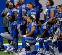 Detroit Lions QB Matthew Stafford knelt during the national anthem. Here's why