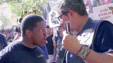 Tense scene as Trump supporters meet protesters in Arizona