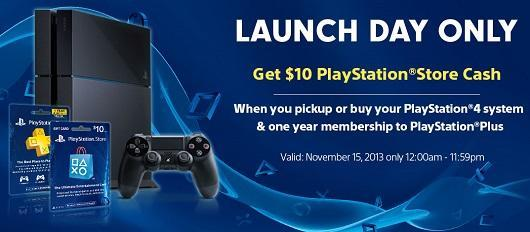 Buy PS4 with a year of PS Plus tomorrow, get $10 to spend on PSN