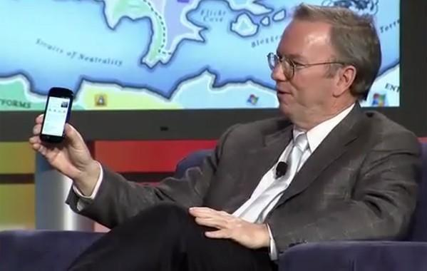 Nexus S teaser by Eric Schmidt now available on video