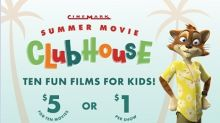 Cinemark Summer Movie Clubhouse Offers Discounted Family-Friendly Movies