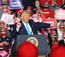 Trump news - live: President mocks protester at rally as police clash with demonstrators over Proud Boys march in Oregon