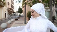 Lebanese bride happy to be alive after blast cuts short wedding video