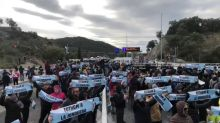 Catalan Independence Demonstrators Block Motorway at France-Spain Border