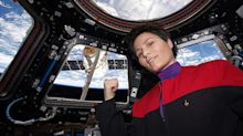 Photo of Astronaut in Star Trek Uniform in Space Goes Viral After First All-Female Spacewalk