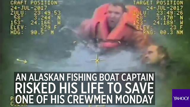 Alaska fishing boat captain braves rough waters to save crewman's life