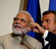 France watching Kashmir rights, Macron tells Modi