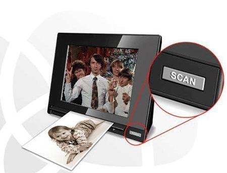 Skyla's Memoir scanning digiframe scans and frames your precious memories