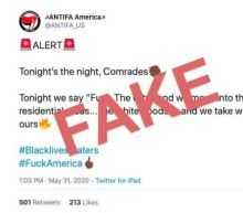 An 'ANTIFA' Twitter account that called for looting 'white hoods' was actually run by white nationalist group Identity Evropa