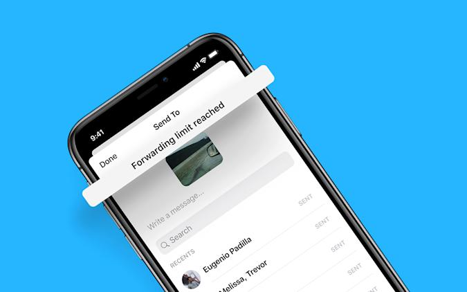 Facebook Messenger forwarding limit