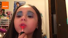 Fabulous Four-Year-Old's Makeup Routine