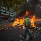 Clashes break out in Paris as 'yellow vest' activists mark year of protests