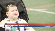 7-year-old with an inoperable brain tumor is crowned honorary homecoming queen