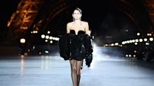 Kaia Gerber's legs distract from Eiffel Tower Saint Laurent show