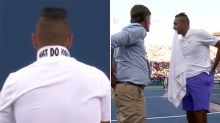 'Show me the rule': Nick Kyrgios in bizarre pre-game blow up
