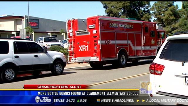 Moere bottle bombs found at Clairemont elementary school