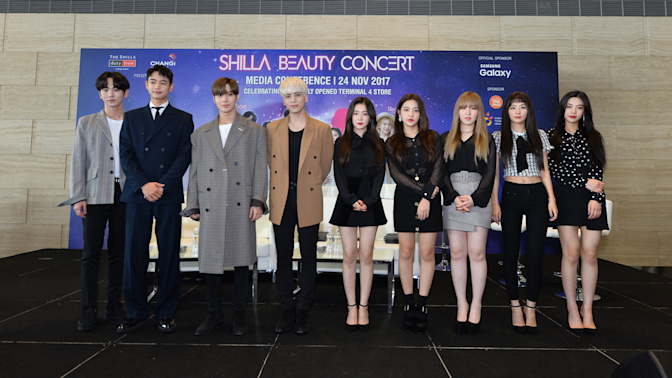 K-pop groups SHINee, Red Velvet press conference