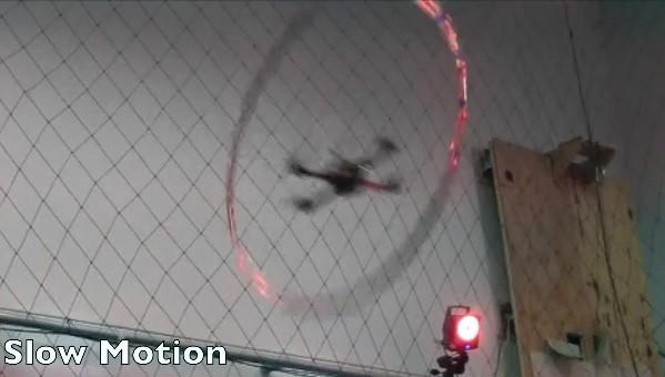 Quadrocopters can now fly through thrown hoops, the end really is nigh (video)