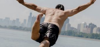 He's jumped in Lake Michigan daily for nearly a year