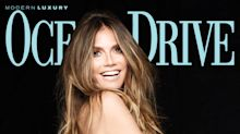 Heidi Klum on Her Less-Is-More Swimsuit Philosophy: 'If No One Is Around, I'll Only Wear Bottoms'