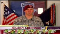 Holiday Greetings from Sgt. Aaren Kellogg