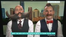 These mustachioed gentlemen explain how to kiss them