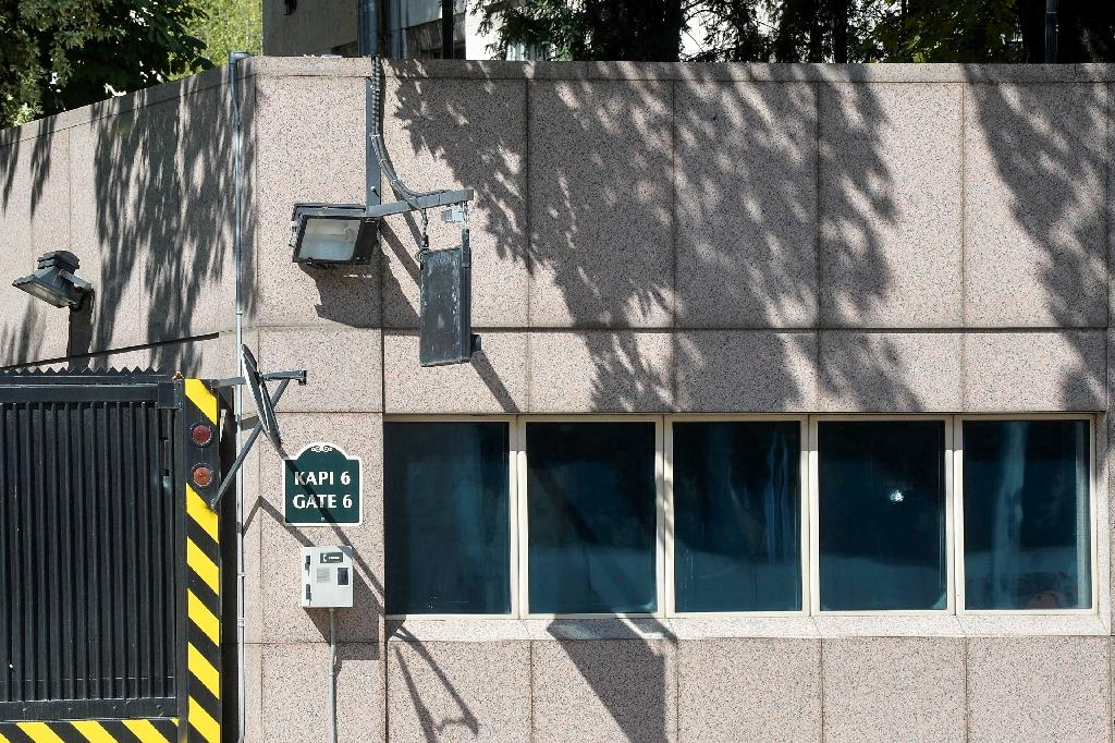 Six bullets were fired at the US embassy in Ankara, including one which hit the window of the security booth