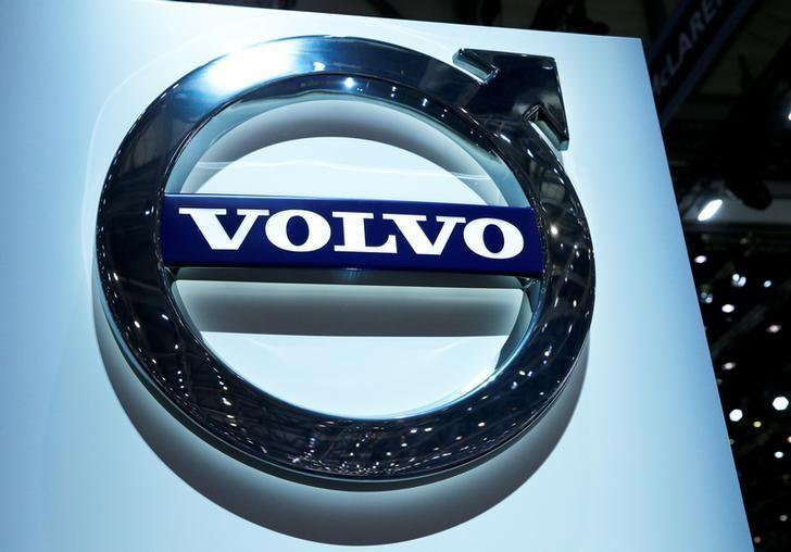 File Photo Volvo Logo Is Pictured On The Stand During 87th International Motor Show