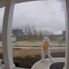 Doorbell Camera Captures 'Easter Bunny' Dancing Outside Ohio Porch