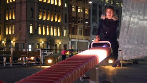 Light up seesaw makes Australia's Federation Square feel like a kid again (video)